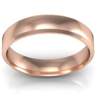 Simple Gold Bevel Ring 4mm Plain Wedding Rings deBebians