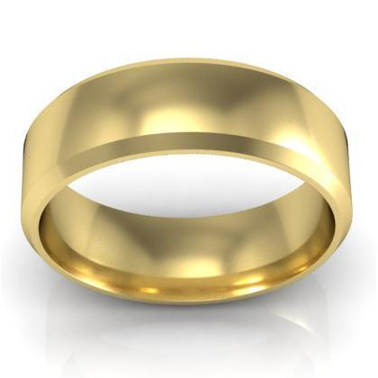 Classic Gold Beveled Band 6mm