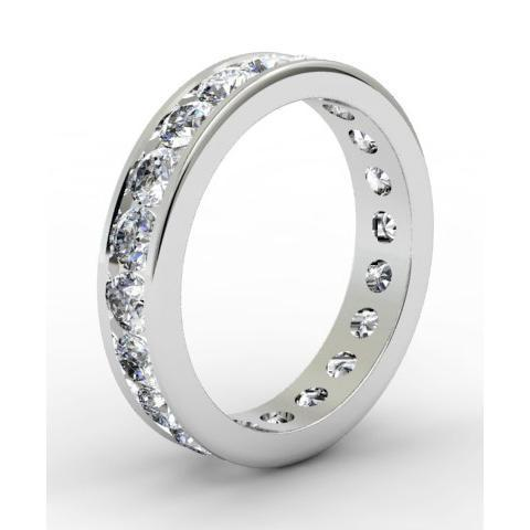 Round Channel Set Diamond Eternity Band - 2.00 carat - I1 Clarity Diamond Eternity Rings deBebians