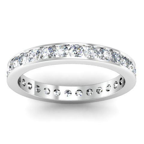 Round Channel Set Diamond Eternity Band - 1.00 carat - I1 Clarity Diamond Eternity Rings deBebians