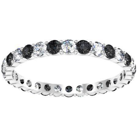 Black and White Diamond Eternity Wedding Ring Gemstone Eternity Rings deBebians
