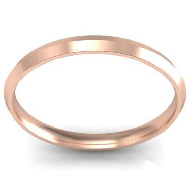 Thin Gold Knife Edge Ring 2mm
