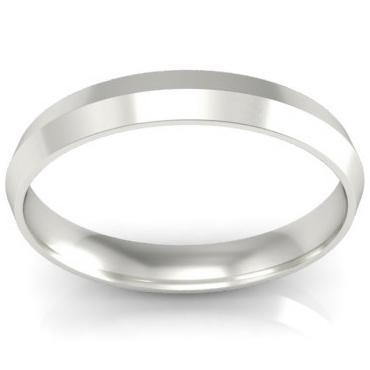 Simple Beveled Wedding Band 3mm
