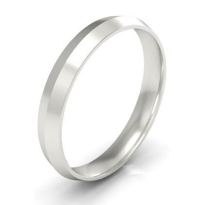 Knife Edge Wedding Band 3mm