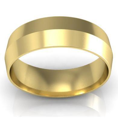 Plain Gold Knife Edge Ring 6mm Plain Wedding Rings deBebians
