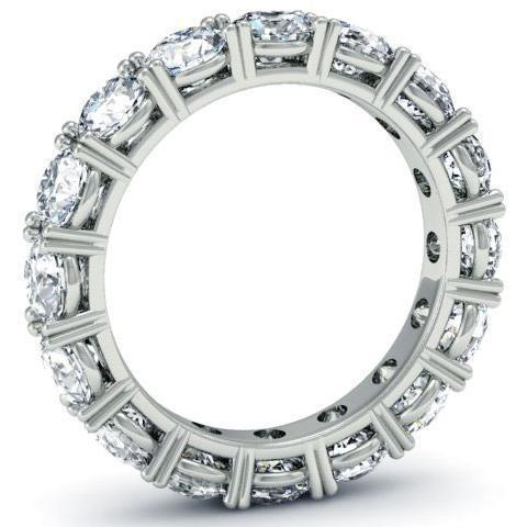 4.00cttw Round Four Prong Diamond Eternity Band Diamond Eternity Rings deBebians