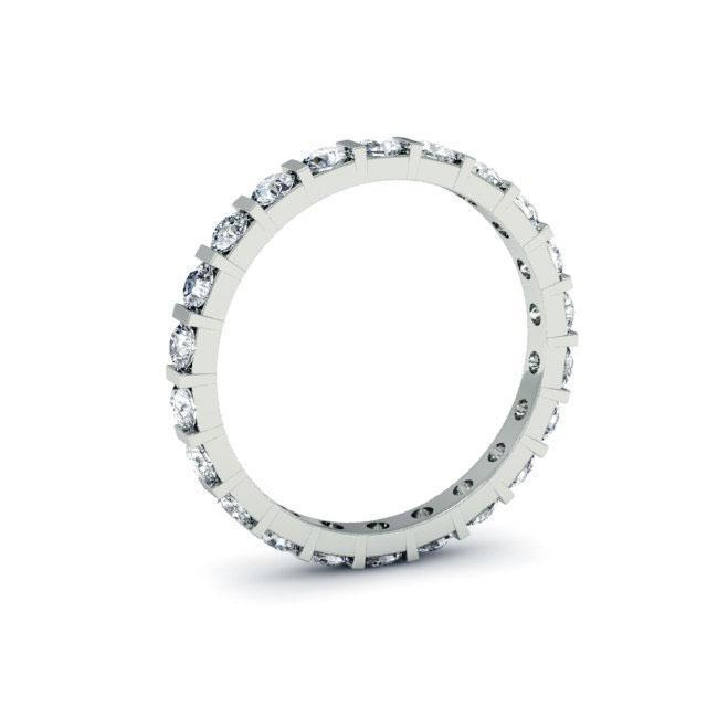 Round Bar Set Diamond Eternity Band - 1.00 carat - I1 Clarity Diamond Eternity Rings deBebians