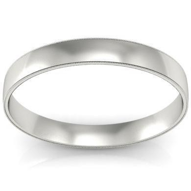 Milgrain Wedding Ring 3mm