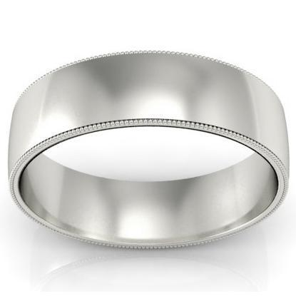 Antique Style Wedding Band 6mm