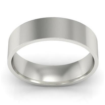 Ladies Flat Wedding Band in Palladium
