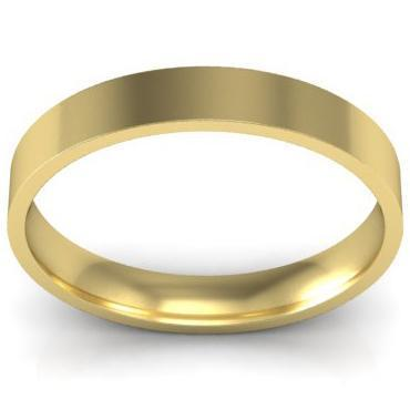 Classic Gold 3mm Wedding Ring Plain Wedding Rings deBebians