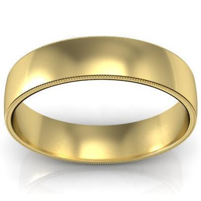 Antique Style Milgrain Ring 5mm Plain Wedding Rings deBebians