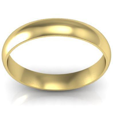 Gold Wedding Ring 4mm Plain Wedding Rings deBebians