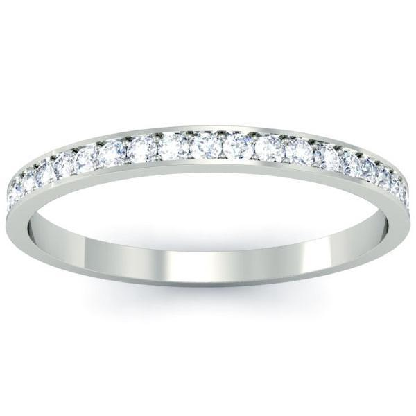 Dainty Diamond Wedding Ring with 12 Round Diamonds