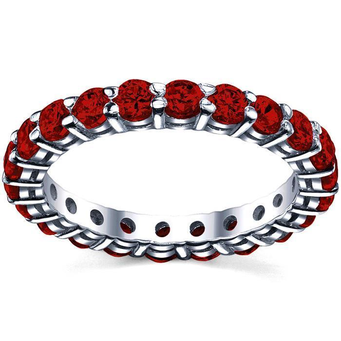 2.00 cttw Ruby Eternity Ring Gemstone Eternity Rings deBebians