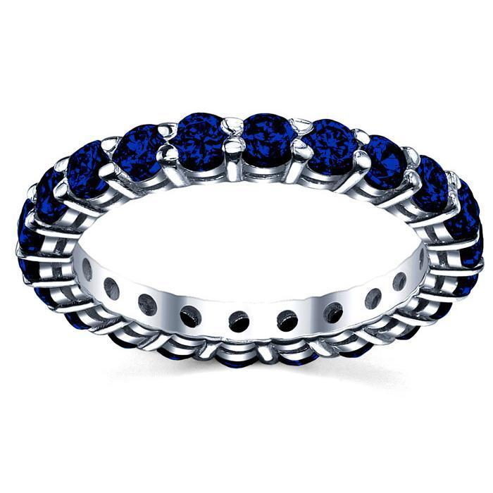 2.00 cttw Sapphire Eternity Ring Gemstone Eternity Rings deBebians