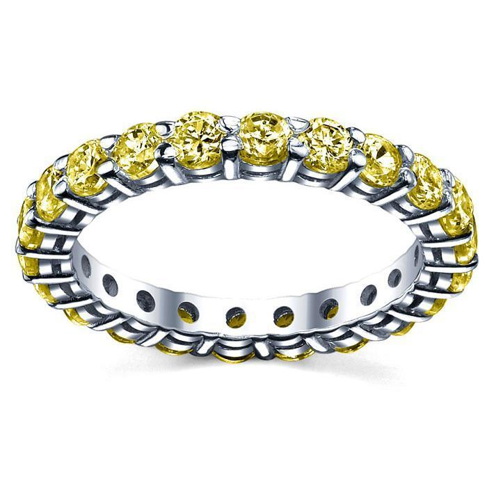 2.00 cttw Yellow Sapphire Eternity Ring Gemstone Eternity Rings deBebians