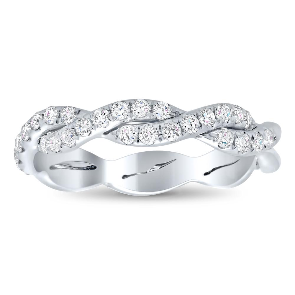 Twisting Pave Diamond Wedding Ring Diamond Wedding Rings deBebians