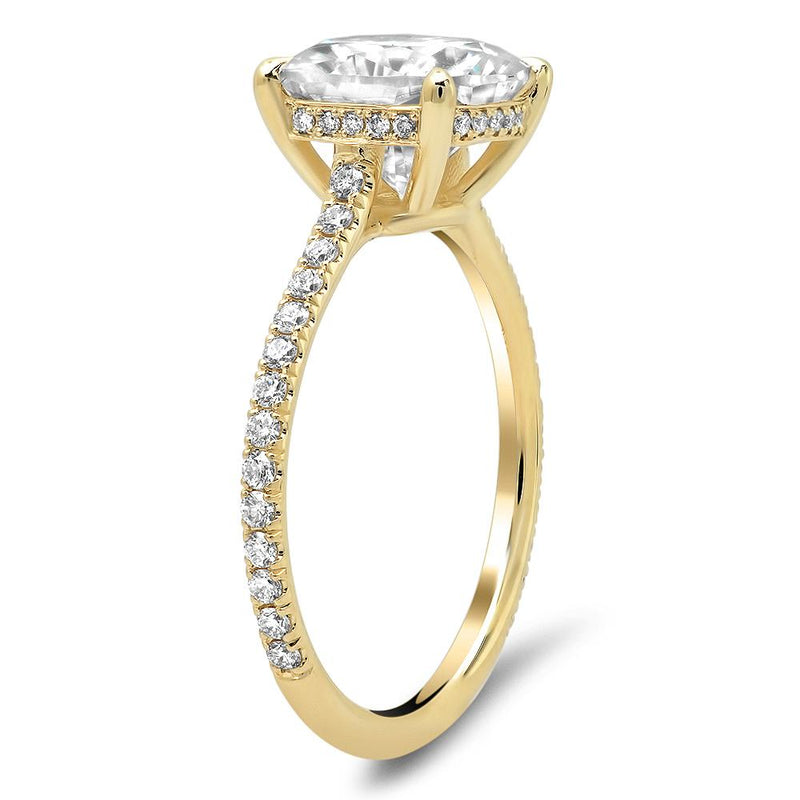 Oval Pave Engagement Ring