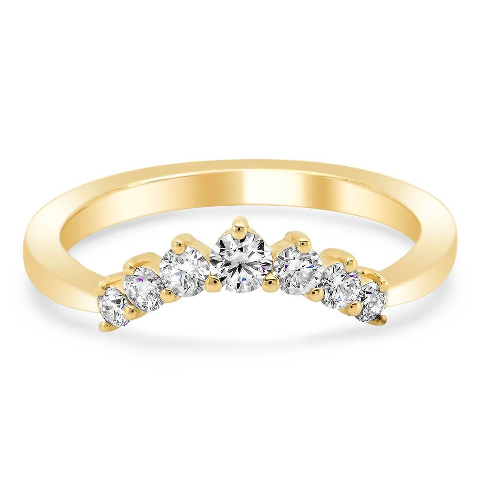 Dainty Crescent Crown Diamond Wedding Ring Diamond Wedding Rings deBebians
