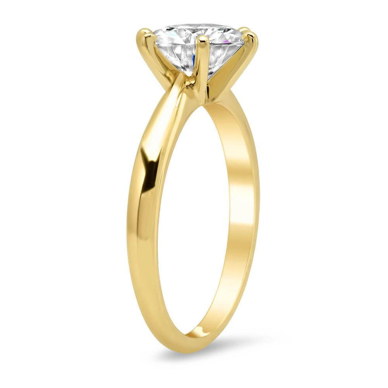 Traditional 6 Prong Solitaire Engagement Ring Setting Solitaire Engagement Rings deBebians
