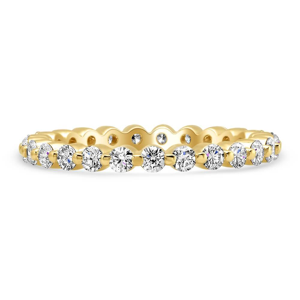 1.00cttw Round Single Prong Diamond Eternity Band Diamond Eternity Rings deBebians