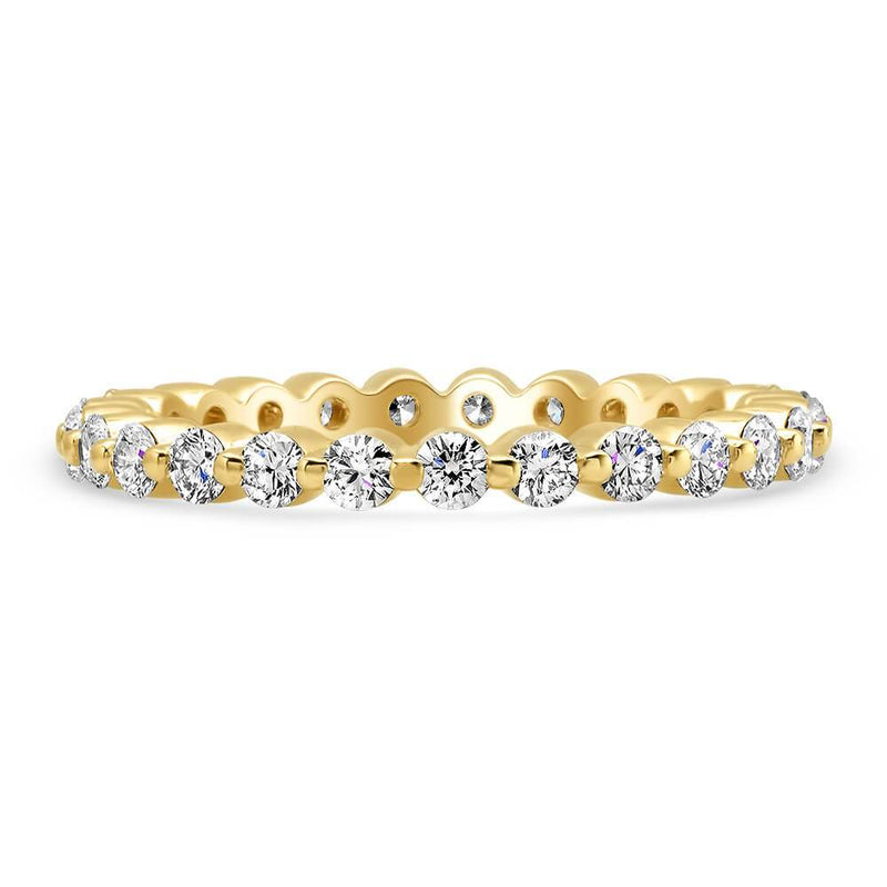 Four Row Micro Pave Set Diamond Eternity Band - 2.00 carat