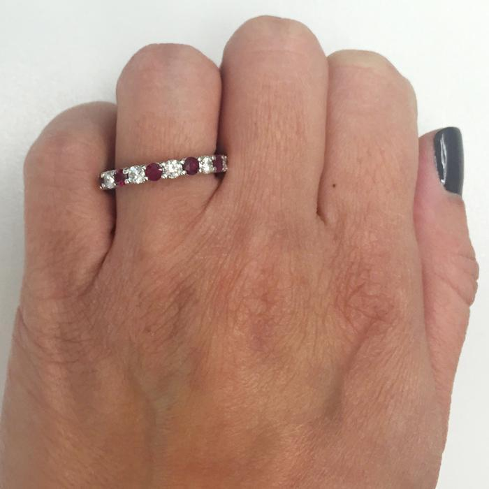 2.00cttw Diamonds and Rubies Eternity Band