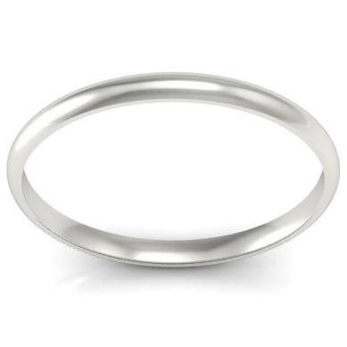 Gold Domed Wedding Band 2mm