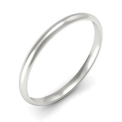 Gold Domed Wedding Band 2mm Plain Wedding Rings deBebians