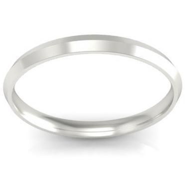 2mm Knife Edge Wedding Band in 14k Plain Wedding Rings deBebians