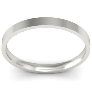 2mm Flat Wedding Band in 18k Plain Wedding Rings deBebians