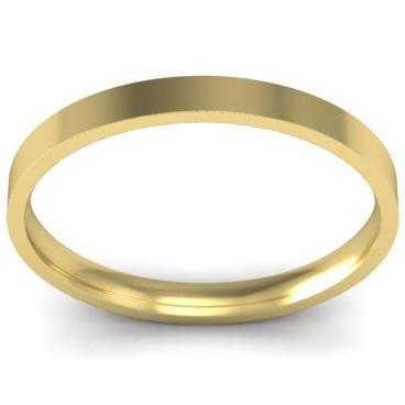 2mm Flat Wedding Ring in 14k