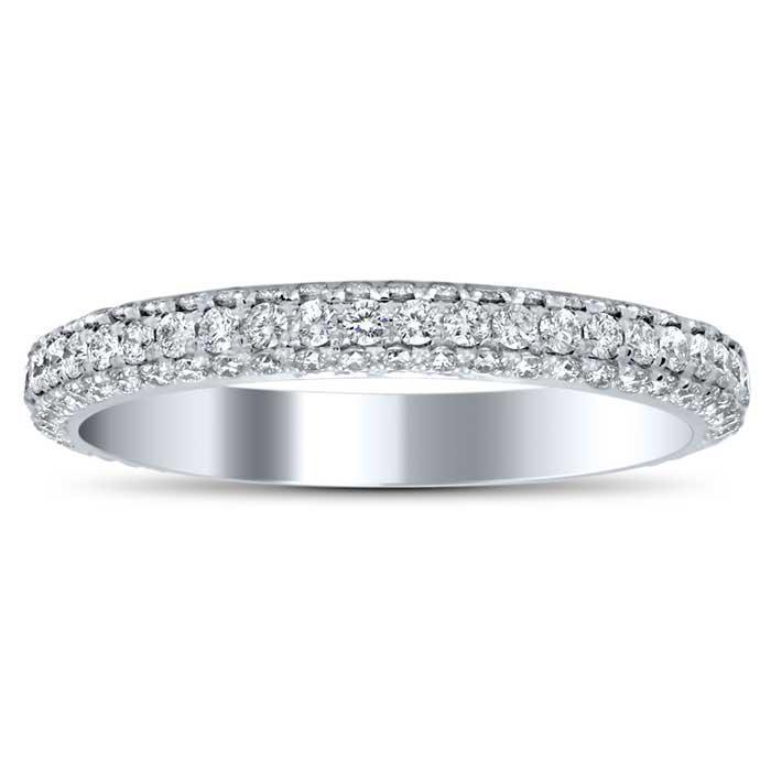 4 Sided Pave Eternity Ring