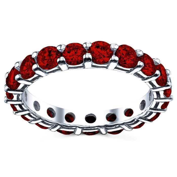3.00 cttw Ruby Eternity Ring Gemstone Eternity Rings deBebians