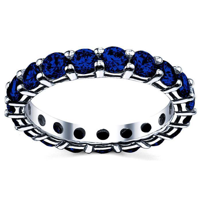 3.00 cttw Sapphire Eternity Ring Gemstone Eternity Rings deBebians