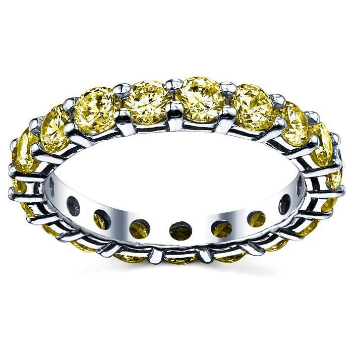 3.00 cttw Yellow Sapphire Eternity Ring Gemstone Eternity Rings deBebians