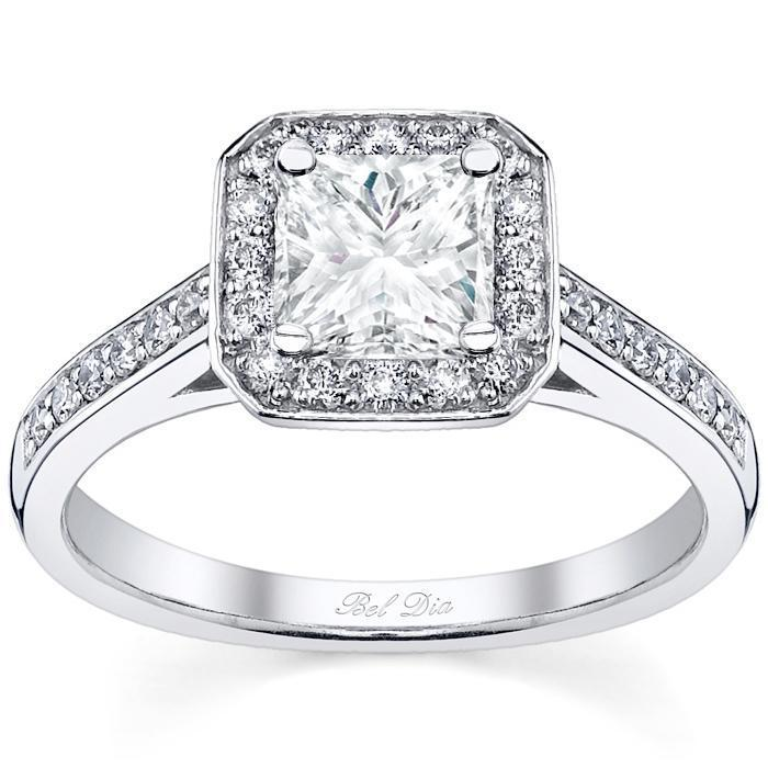 Princess Cut Halo Ring Setting Halo Engagement Rings deBebians