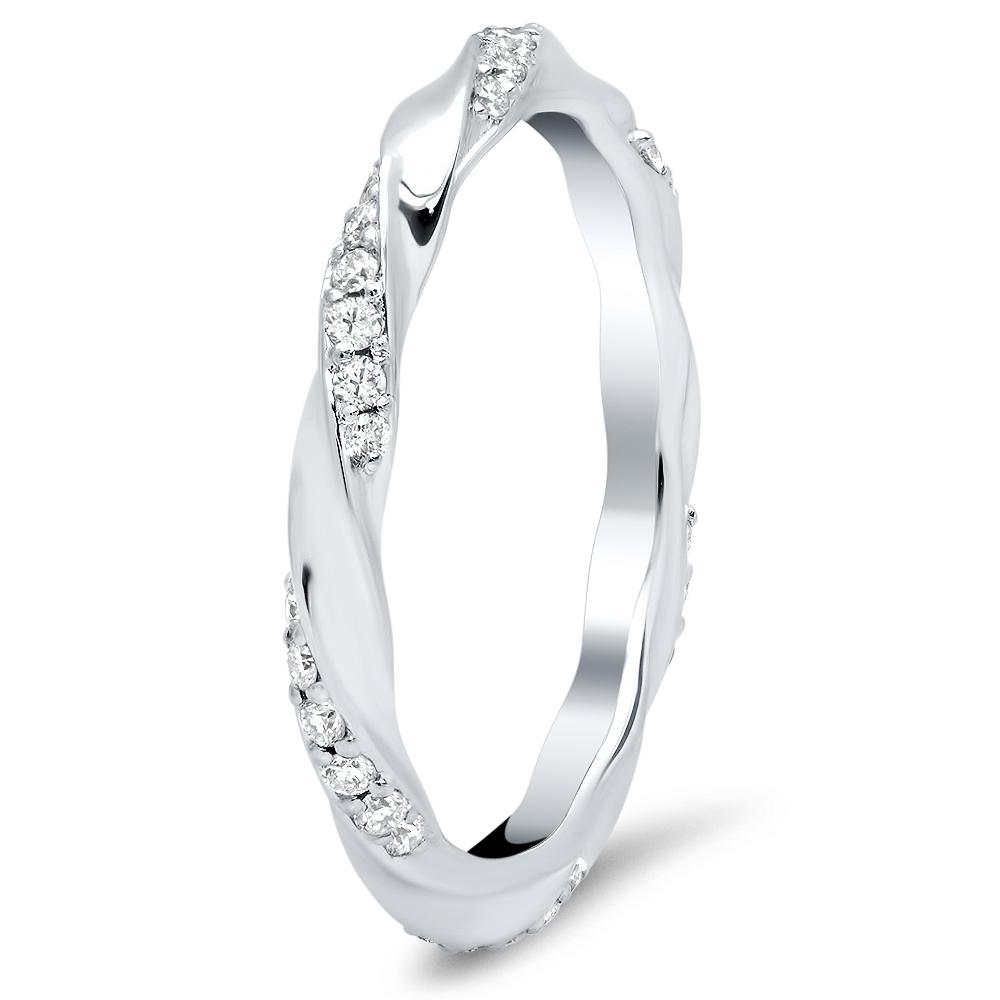 Twist Pave Eternity Wedding Ring Diamond Wedding Rings deBebians