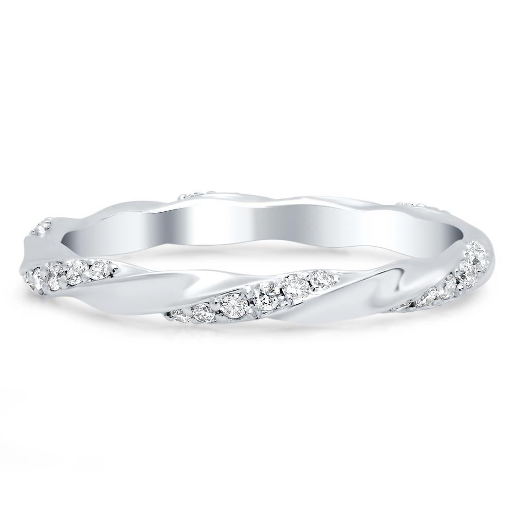 Twist Pave Eternity Wedding Ring