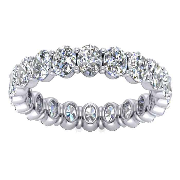 Oval Cut Shared Prong Diamond Eternity Band - 3.00 carat - VS Clarity Diamond Eternity Rings deBebians
