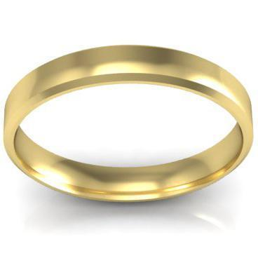 Gold Wedding Band 3mm Plain Wedding Rings deBebians