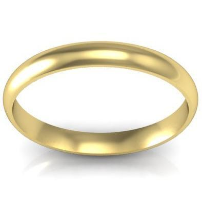 Domed Wedding Band in 14k 3mm Plain Wedding Rings deBebians