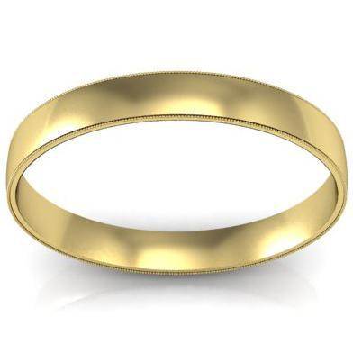 3mm Milgrain Wedding Ring in 18k Plain Wedding Rings deBebians