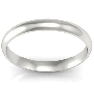 3mm Domed Platinum Wedding Ring Platinum Wedding Rings deBebians