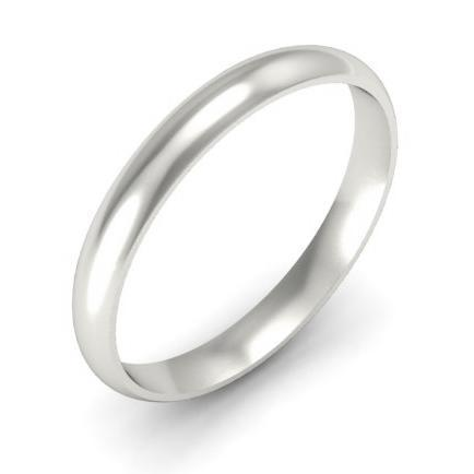 3mm Domed Platinum Wedding Ring