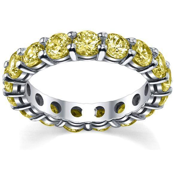 4.00 cttw Yellow Sapphire Eternity Ring Gemstone Eternity Rings deBebians