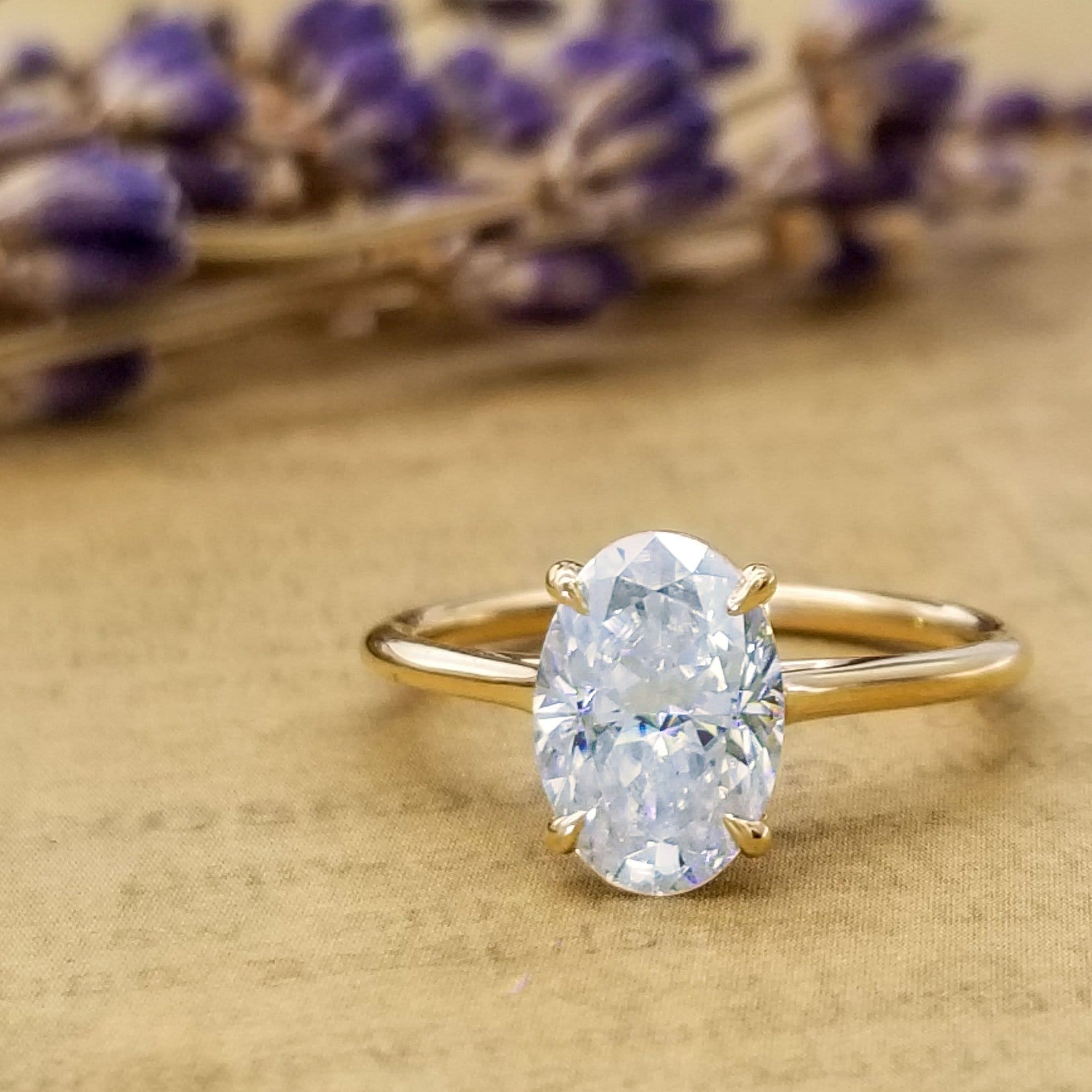 Thin Solitaire Engagement Ring 1.5mm Wide