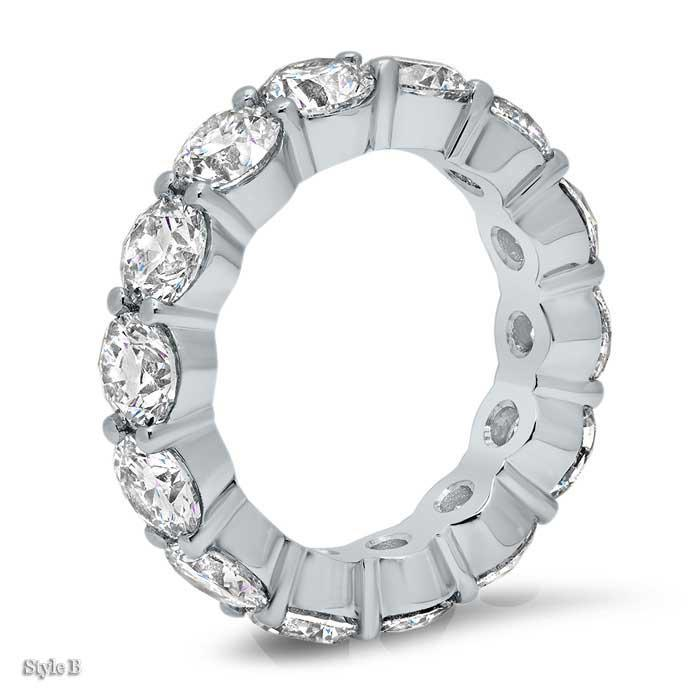 4.5mm Forever One Moissanite Round Eternity Ring
