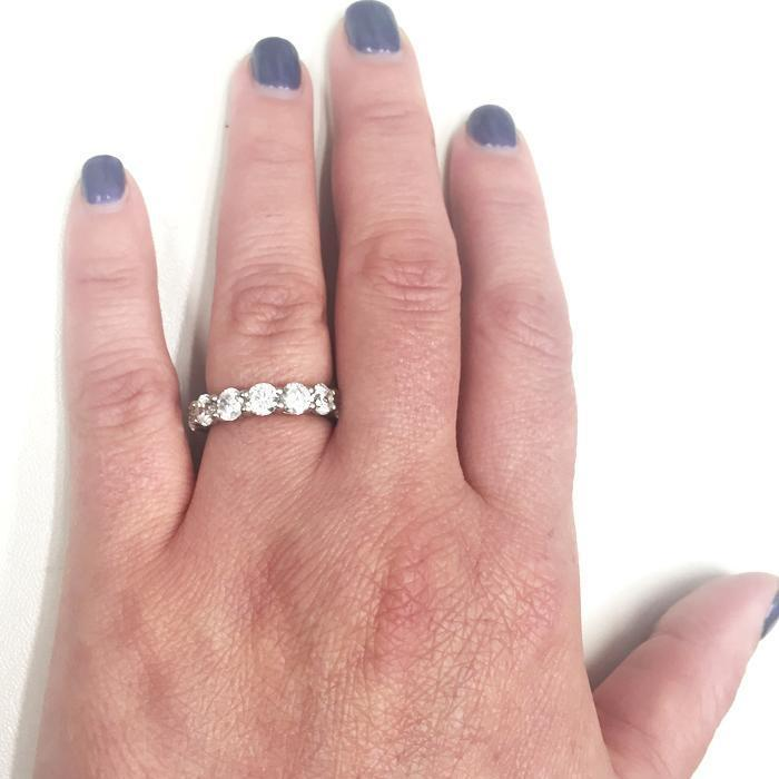 4.00 cttw Round Shared Prong Diamond Eternity Band Diamond Eternity Rings deBebians
